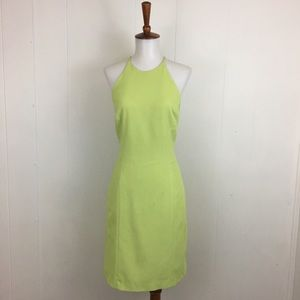 Laundry Shello Segal Lime Halter Mini Sheath Dress